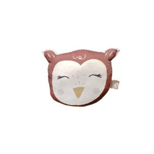 coussin tête hibou rouge carotteetcie